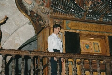 Concierto de órgano en la iglesia de Fitero (Navarra), 2000