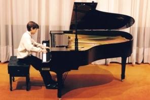 Momento de la interpretación en el Concurso Internacional de Piano ciudad de San Sebastián, 1997