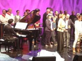 Homenaje a Joxan Lizarribar junto con la soprano Ainhoa Arteta en el auditorio Bastero de Andoain, 2013