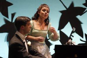 """Con Naroa Intxausti (Sandrina) en la ópera """"La Finta Giardiniera"""" de W.A.Mozart"""