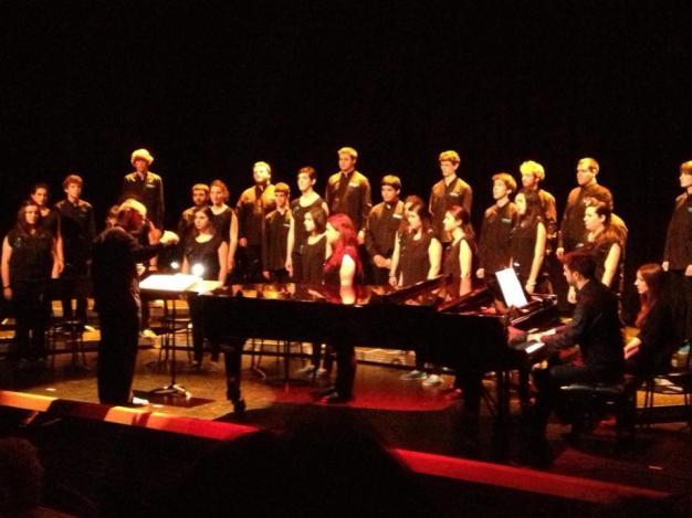 Pianista repertorista con Ametsa Gazte en el auditorio Amaia de Irun, 2013