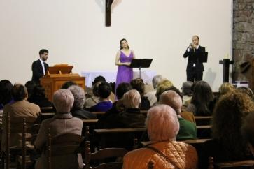 """Con el Trio Easo en el XXV Ciclo de Música Sacra en la iglesia """"Gurutzeaga"""" de Aiete, 2014"""